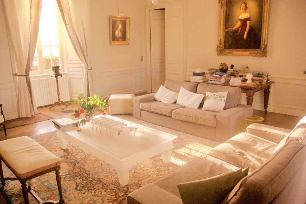 Living room at Piedouault's Castle